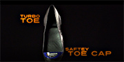 Turbo toe steel toe cap